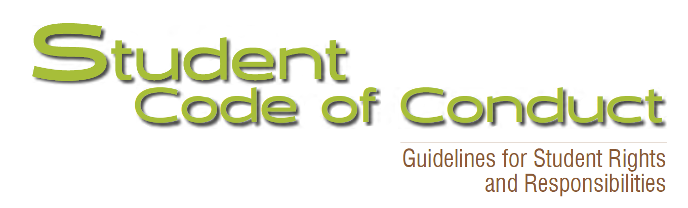 Student Code of Conduct 2018-2019 Guidelines for Student Rights and Responsibilities
